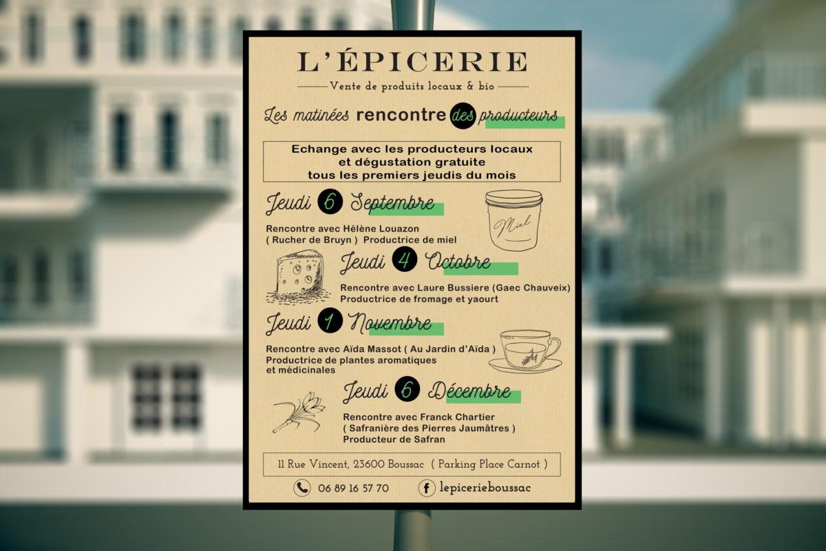 affiche L'épicerie boussac